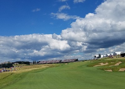 Erin Hills Golf Course 2017 U.S. Open Hole 18 Clouds
