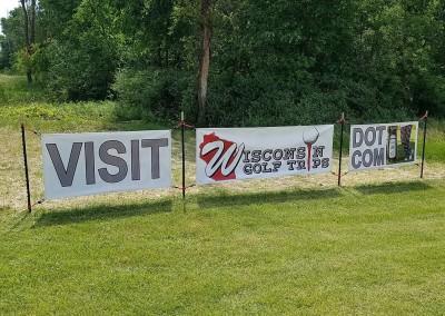 Erin Hills Golf Course 2017 U.S. Open Roadside Banner Back