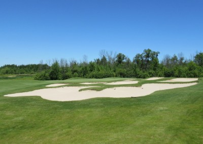 The Bog Golf Course Hole 4 Bunkers