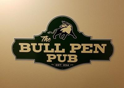 The Bull at Pinehurst Farms Clubhouse Bull Pen Sign