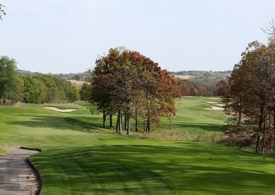 University Ridge Golf Course Hole 16 Tee Fall