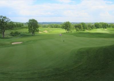 University Ridge Golf Course Hole 9 Green View