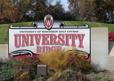 University Ridge Golf Course - Sign
