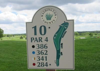 Washington County Golf Course Hole 10 Sign