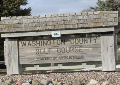 Washington County Golf Course Sign