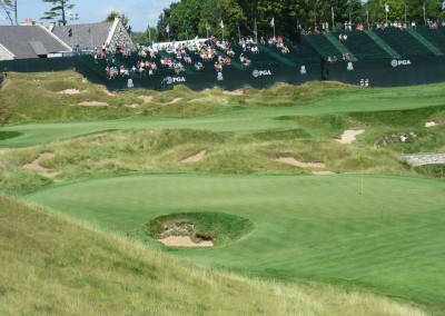Whistling Straits Straits Course 2015 PGA Hole 9 Green