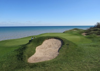 Whistling Straits - Straits Course Hole 17 Pinched Nerve Right Bunker
