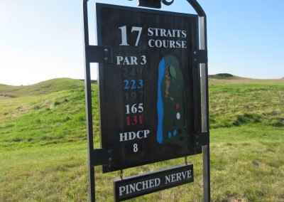 Whistling Straits - Straits Course Hole 17 Pinched Nerve Sign