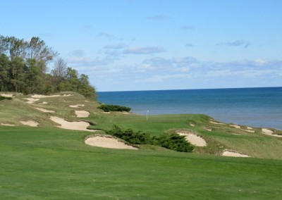 Whistling Straits - Straits Course Hole 8 On The Rocks Approach