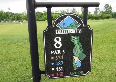 Trappers Turn Golf Club Arbor Hole 8 Sign
