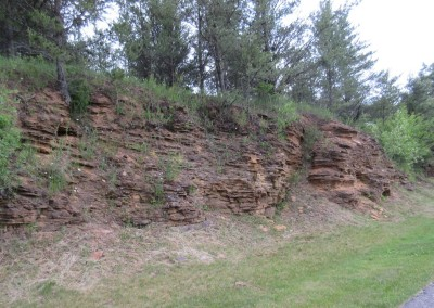Trappers Turn Golf Club Lake Hole 1 Rock Wall