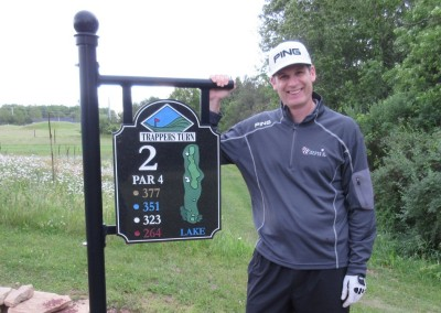 Trappers Turn Golf Club Lake Hole 2 Sign