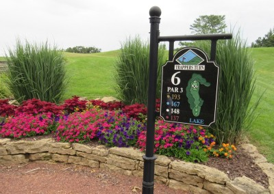 Trappers Turn Golf Club Lake Hole 6 Tee Sign