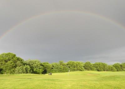Trappers Turn Golf Club Lake Hole 7 Full Rainbow