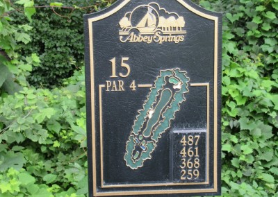 Abbey Springs Golf Course Hole 15 Tee Sign