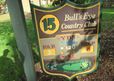 Bull's Eye Country Club Hole 15 Sign