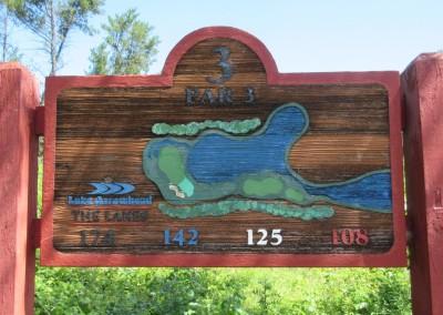 Lake Arrowhead Golf Course - Lakes Course - Hole 3 Sign