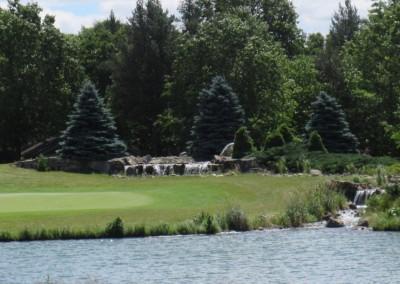 Lake Arrowhead Golf Course - Lakes Course - Hole 3 Waterfall