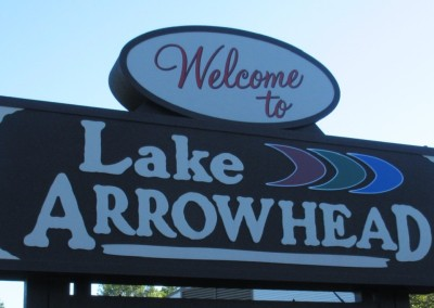 Lake Arrowhead sign