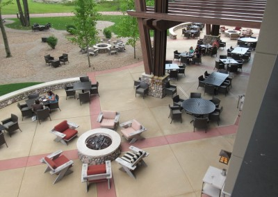 SentryWorld Clubhouse Patio Aerial View
