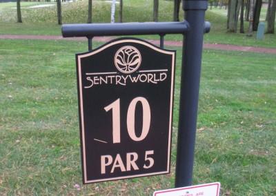 SentryWorld Hole 10 Sign
