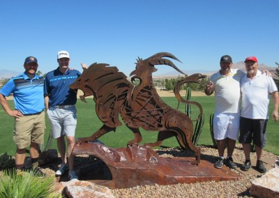 Chimera Golf Club Group Statue