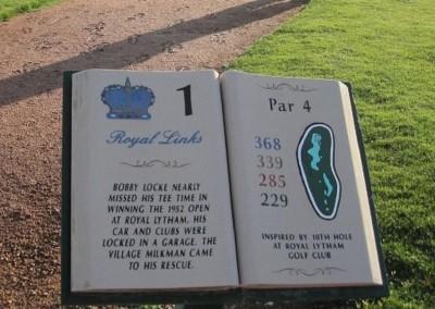 Royal Links Golf Club Las Vegas Hole 1 Sign