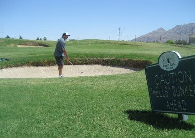 Royal Links Golf Club Las Vegas Hole 18 Hell's Bunkers Sign
