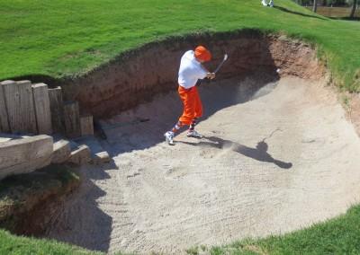 Royal Links Golf Club Las Vegas Hole 8 Postage Stamp Bunker Jason Kauflin