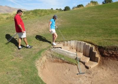 Royal Links Golf Club Las Vegas Hole 8 Postage Stamp Stairs