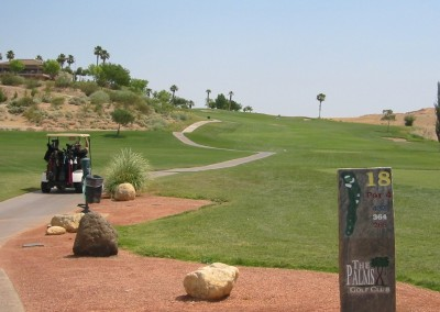 The Palms Golf Course Mesquite Hole 18 Tee Sign
