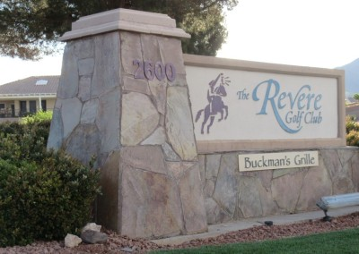 The Revere Golf Club Sign
