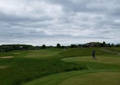 Broadlands Golf Club Hole 18 Back Clouds