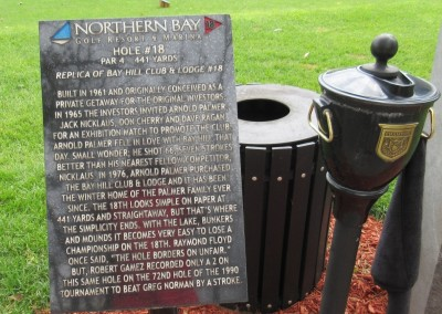 Northern Bay Castle Course Hole 18 Replica Sign