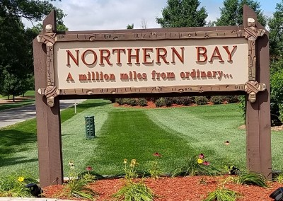 Northern Bay Castle Course Sign