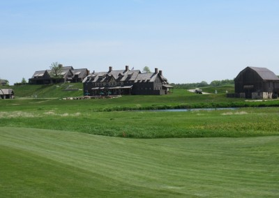 Erin Hills Golf Course Hole 1 Fairway Clubhouse View