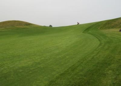 Erin Hills Golf Course Hole 12 Fairway Backwards