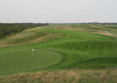 Erin Hills Golf Course Hole 14 Green View