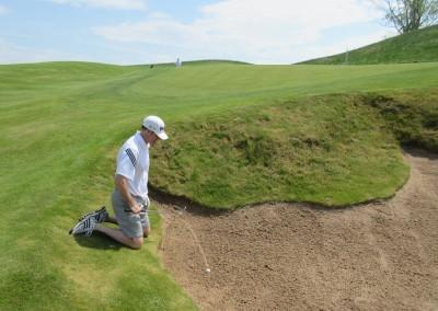 Erin Hills Golf Course Hole 14 Greenside Bunker