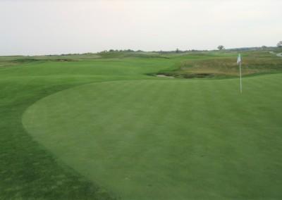 Erin Hills Golf Course Hole 18 Green View