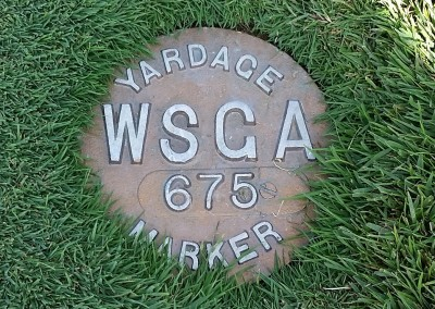 Erin Hills Golf Course Hole 18 Yardage Marker