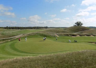 Erin Hills Golf Course Hole 4 Green Elevated