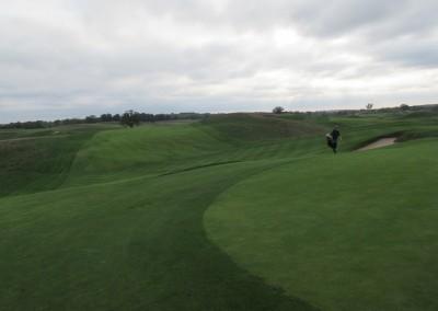 Erin Hills Golf Course Hole 8 Green Fall Off