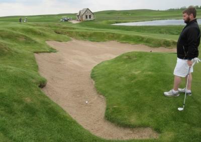 Erin Hills Golf Course Hole 9 Finger Bunker