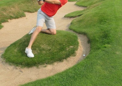 Erin Hills Golf Course Hole 9 Greenside Bunker Shot