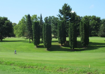 Baraboo Country Club Hole 2 Fairway Trees