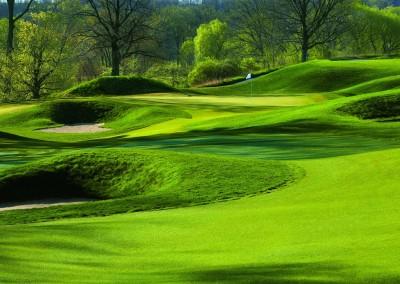 Blackwolf Run Meadow Valleys Golf Course Hole 10 Quiver Approach