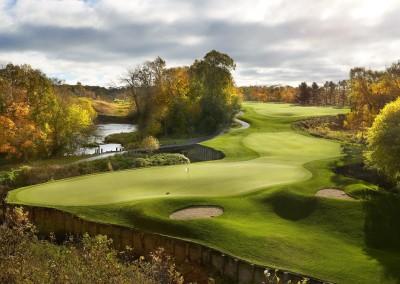 Blackwolf Run Meadow Valleys Golf Course Hole 14 Natures Course Green