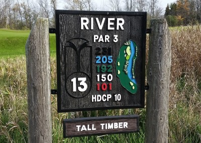 Blackwolf Run - River Golf Course Hole 13 Tall Timber Sign