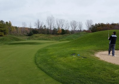 Blackwolf Run - River Golf Course Hole 15 The Sand Pit Approach